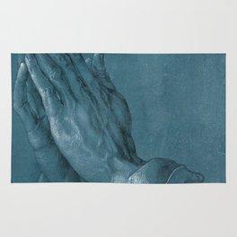 """""""Praying Hands"""" by Albrecht Dürer Rug"""