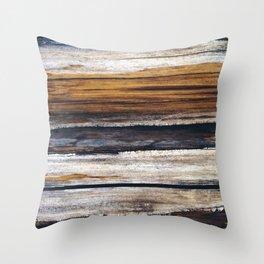 Scars on Cedar Throw Pillow