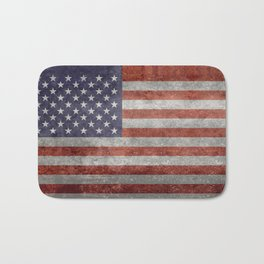 Flag of the United States of America - Vintage Retro Distressed Textured version Bath Mat