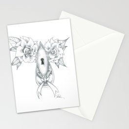 Victorian Lock Stationery Cards