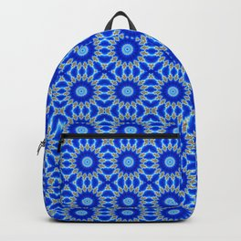 Blue and Yellow Circle Repeating Pattern Backpack