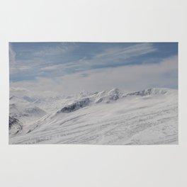 Panorama at Livigno in the Italian Alps Rug
