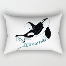 Dreamer Orca (Amber Marine, Indie Wildlife Artist Official Logo, Copyright 2015) Killer Whale Art Rectangular Pillow