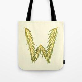 Leafy Letter W Tote Bag