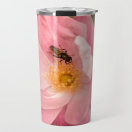 A rose and the fly insect Travel Mug