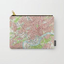 Vintage Map of Knoxville Tennessee (1966) Carry-All Pouch