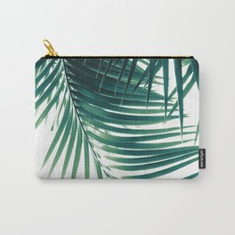 Palm Leaves Green Vibes #4 #tropical #decor #art #society6 Carry-All Pouch