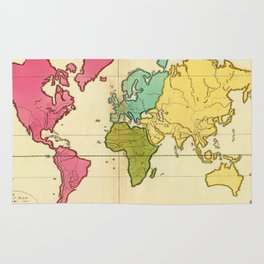 Vintage Map of The World (1792) Rug