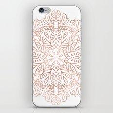 Mandala Rose Gold Pink Shimmer by Nature Magick iPhone & iPod Skin