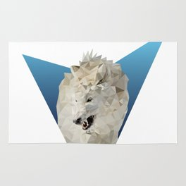 Low Poly Wolf Rug