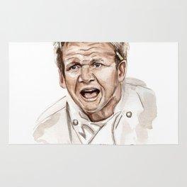 Gordon Ramsay - It's RAW Illustration Rug