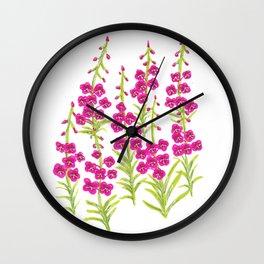 Fireweed Wall Clock