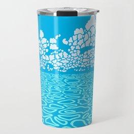 Tropical Ocean by Black Dwarf Designs Travel Mug