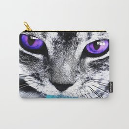 Purple eyes Cat Carry-All Pouch
