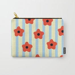 Poppies & Stripes Carry-All Pouch