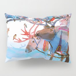 Reindeers and friends Pillow Sham
