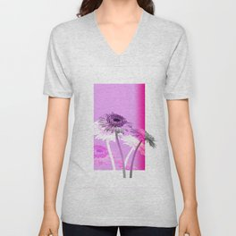 flowers are flowers and pink is the warmest color Unisex V-Neck