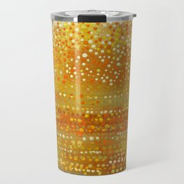Landscape Dots - Orange Travel Mug