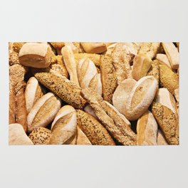 Bread baking rolls and croissants Rug