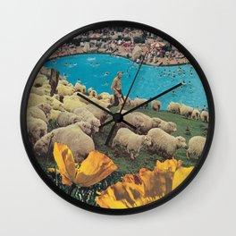 Sheep Farm Wall Clock