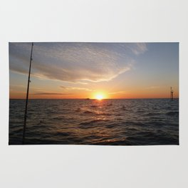 This is the life - Setting Sun , Hervey Bay Qld Rug