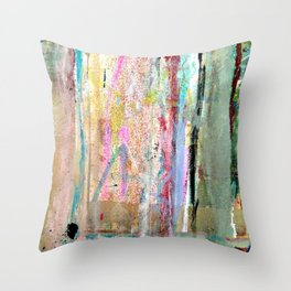 Colorful Bohemian Abstract 1 Throw Pillow