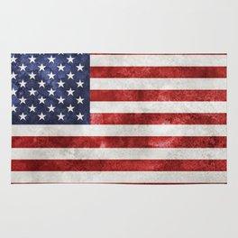 Acrylic Grunge Flag - USA Rug