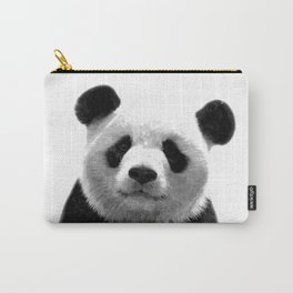 Black and white panda portrait Carry-All Pouch