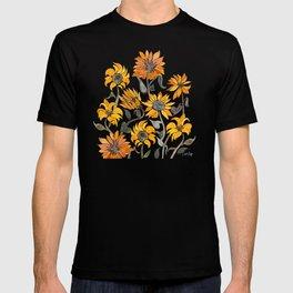 Sunflower Watercolor – Yellow & Black Palette T-shirt