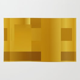 Gold paths Rug