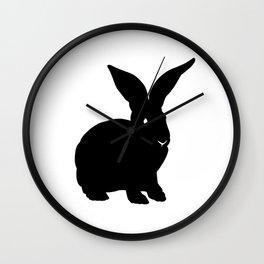 Rabbit Black Silhouette Animal Pet Cool Style Wall Clock