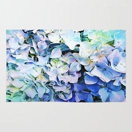 Soft Tri-Color Pastel Hydrangea Rug