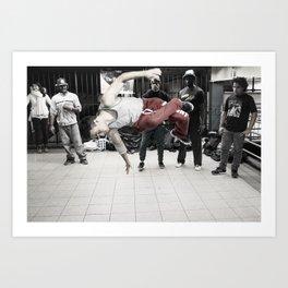 14th St & Union Sq (Jump) Art Print