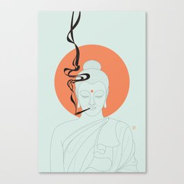 Buddha : Give Peace a Chance! Canvas Print