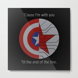 Stucky Shields (With Quote) Metal Print