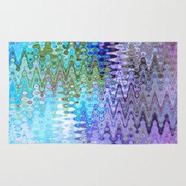 Charming Distractions, Abstract Art Waves Rug