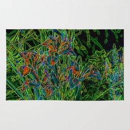 Neon Garden Flowers Rug