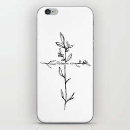 Philippians 4:13 Cross iPhone Skin