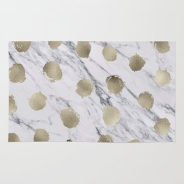 Golden dots on marble Rug