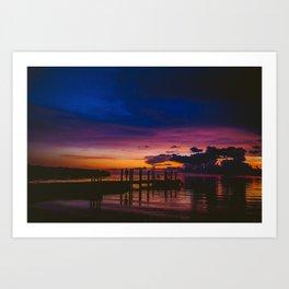 Sunset Florida Keys Dock Art Print