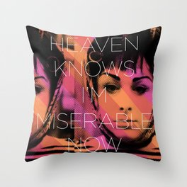 Heaven Knows I better Get Them Cha-Cha Heels Throw Pillow