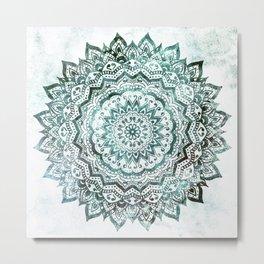 Emerald Jewel Mandala Metal Print
