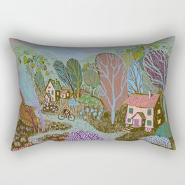 Village in color Rectangular Pillow