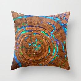 Sea of blue opal Throw Pillow
