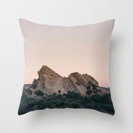 Sunset Over Desert Vasquez Rocks Throw Pillow