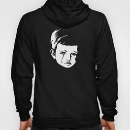 Faces - crying gypsy boy on a red and orange floral background Hoody