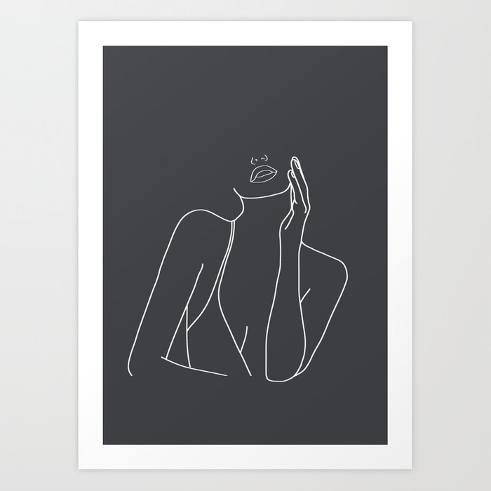Minimal Line Art of a Woman Kunstdrucke