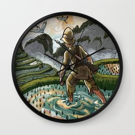 In the Rice Paddies Wall Clock