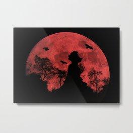 Red moon rock Metal Print