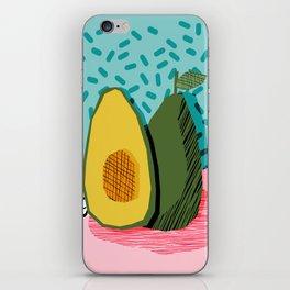 Choice - wacka memphis throwback retro neon fruit avocado vegetable vegan vegetarian art decor iPhone Skin